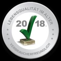BIVA Gütesiegel - Lebensqualität im Alter - verbraucherfreundlich - gültig bis 05/2018